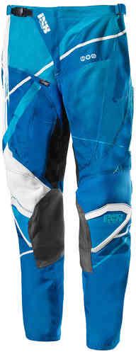 IXS Hurricane Motocross housut Tummansininen/vaaleansininen/valkoinen