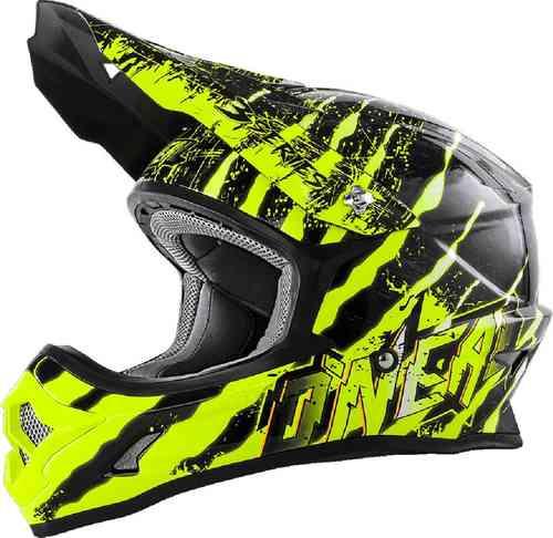 Oneal O`Neal 3Series Mercury MX Motocross kypärä Musta/keltainen
