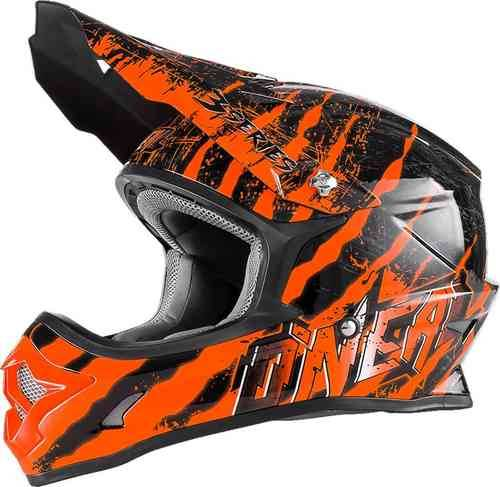 Oneal O`Neal 3Series Mercury MX Motocross kypärä Musta/oranssi