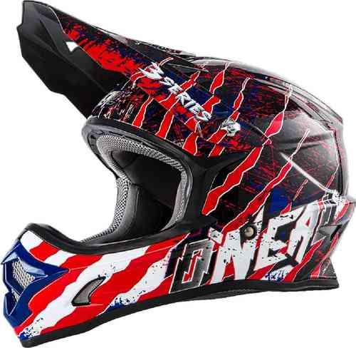 Oneal O`Neal 3Series Mercury MX Motocross kypärä Mattasininen/punainen