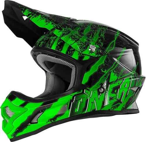Oneal O`Neal 3Series Mercury MX Motocross kypärä Musta/vihreä