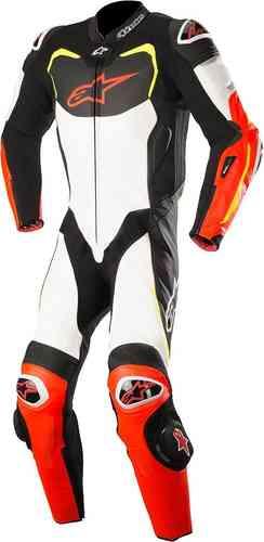 Alpinestars GP Pro Tech Air Yksiosainen puku Musta/valkoinen/punainen/keltainen
