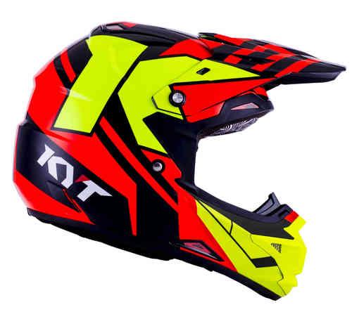 KYT Cross Over Ktime Motocross kypärä Punainen/keltainen