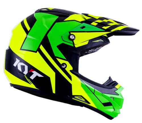 KYT Cross Over Ktime Motocross kypärä Keltainen/vihreä