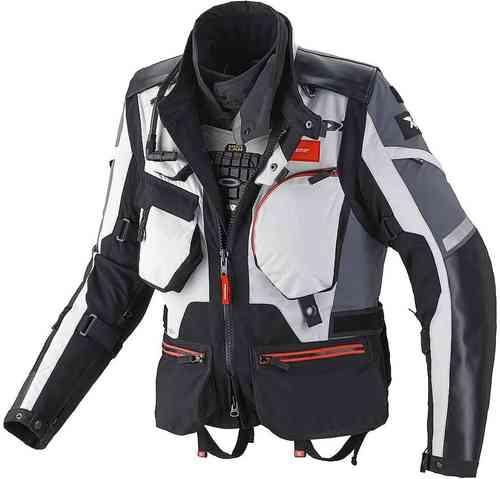 Spidi H.T. Raid Pro Tekstiili takki Musta/harmaa