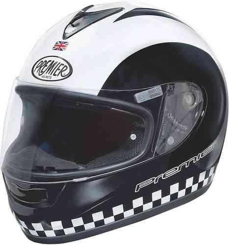 Premier Monza Retro Kypärä Musta/valkoinen