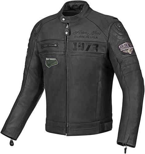 Arlen Ness New York Moottoripyörä nahkatakki Musta