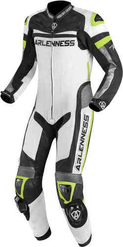 Arlen Ness Zoldar 1PC Yksiosainen puku Musta/valkoinen/keltainen