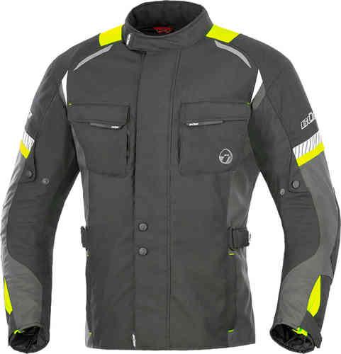 Büse Breno Tekstiili takki Musta/neon/keltainen
