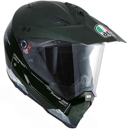 AGV AX-8 Dual Evo Wild Frontier Motocross kypärä Vihreä