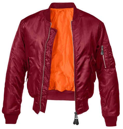 Brandit MA1 Classic Takki Burgundinpunainen
