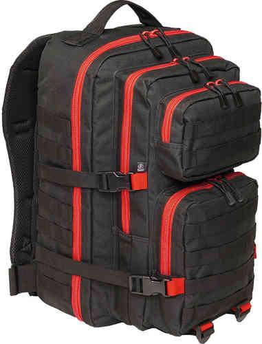 Brandit US Cooper 2 Reppu Musta/punainen