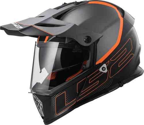 LS2 Pioneer MX436 Element Kypärä Musta/oranssi