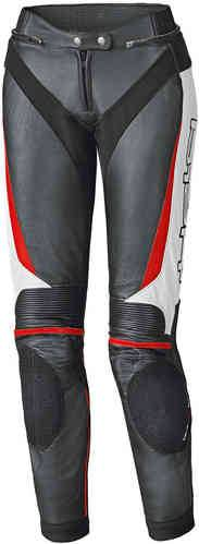 Held Lane II Naiset nahka housut Musta/valkoinen/punainen