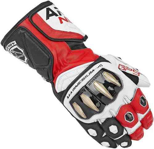 Arlen Ness Sugello Moottoripyörän käsineet Musta/valkoinen/punainen