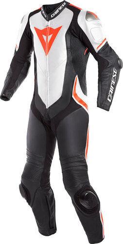 Dainese Laguna Seca 4 1PC Nahka puku Musta/valkoinen/punainen
