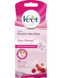 Veet Easy-Gelwax Cold Strips Face 20PCS