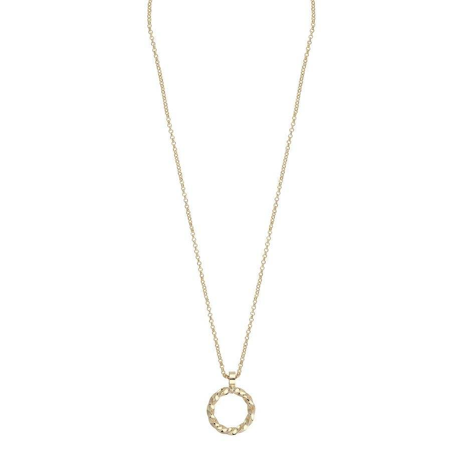 Snö Of Sweden Turn Pendant Necklace 42 cm - Plain Gold