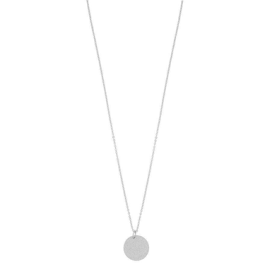 Snö of Sweden Lynx Small Pendant Necklace 42 cm - Plain Silver