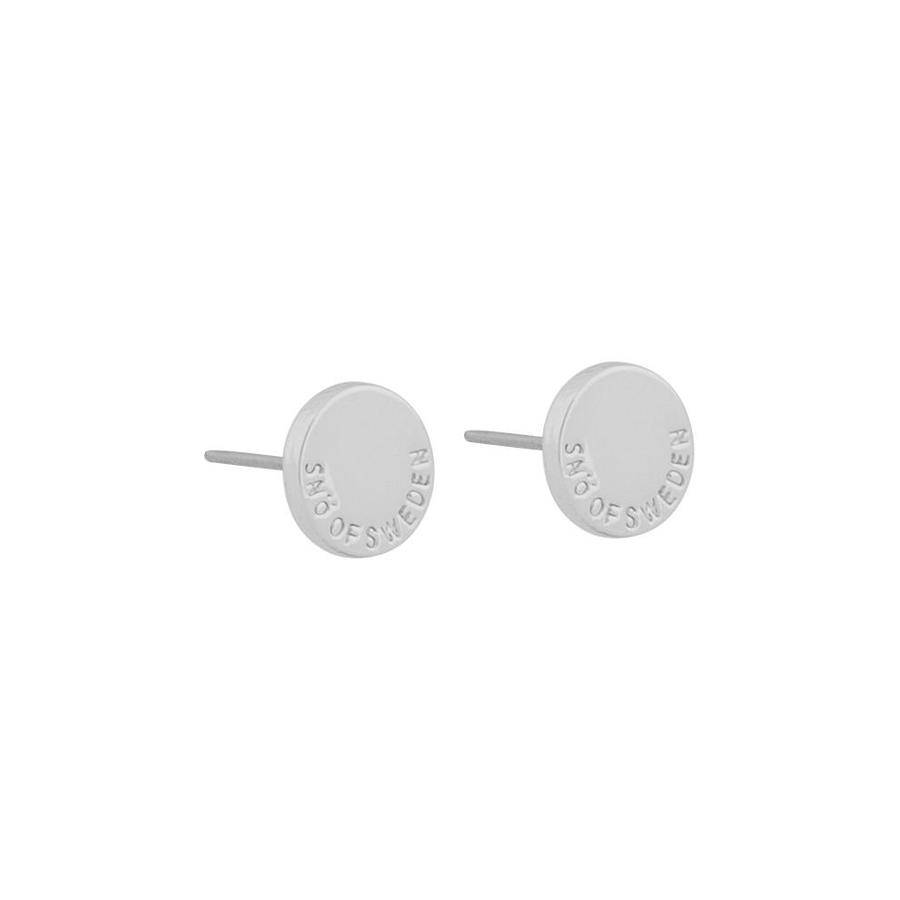 Snö Of Sweden Remy Small Earring Round – Plain Silver 8 mm