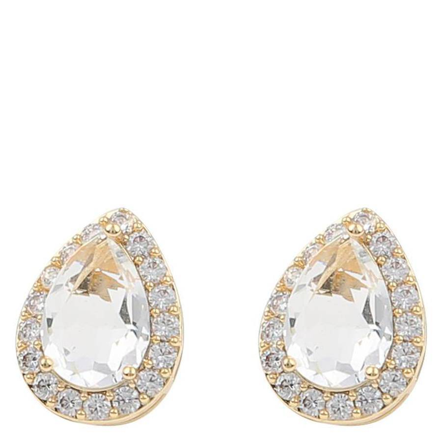 Snö Of Sweden Three Small Earring – Gold/Clear