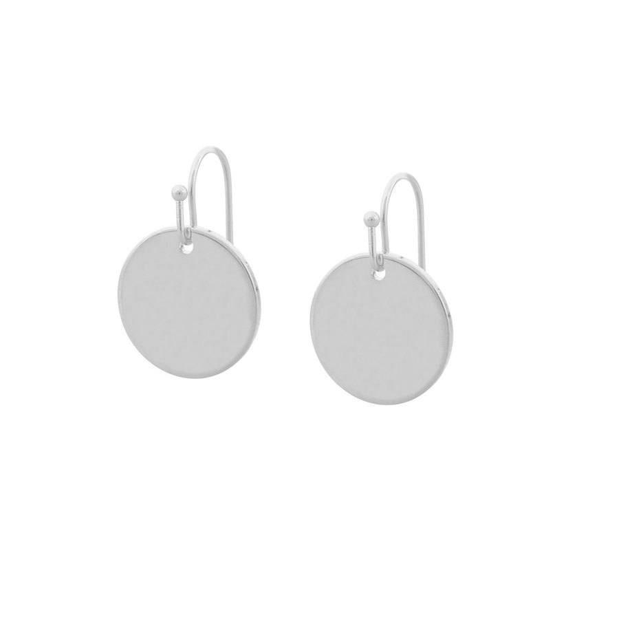 Snö of Sweden Emily Small Pendant Earring – Plain Silver
