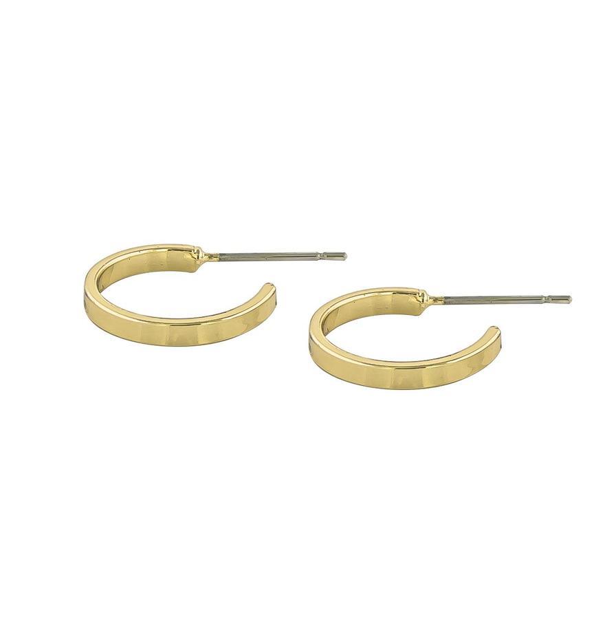 Snö Of Sweden Moe Ring Earring - 15 mm Plain Gold