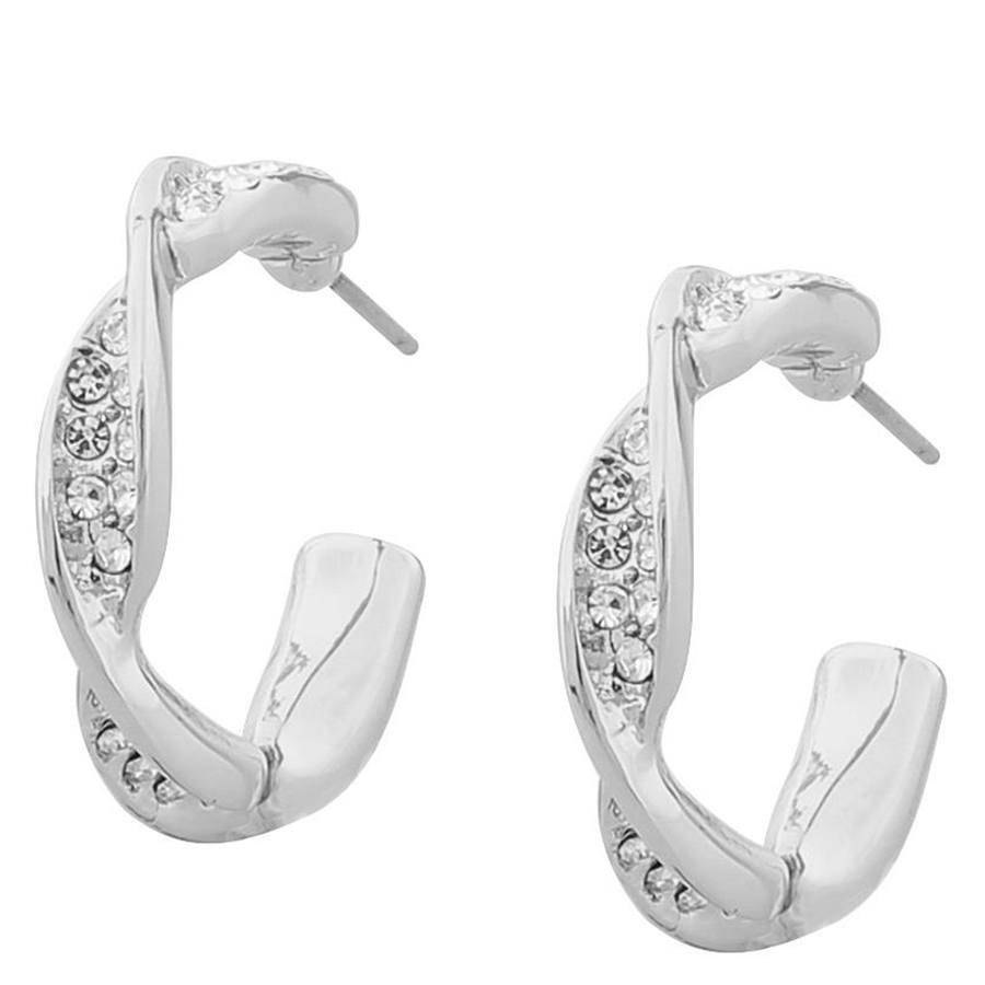 Snö Of Sweden Leonie Small Oval Earring – Silver/Clear