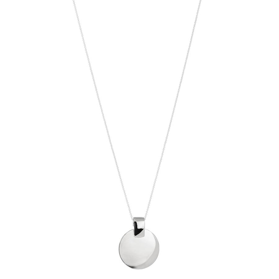 Snö of Sweden Carrie Pendant Necklace 80 cm – Plain Silver