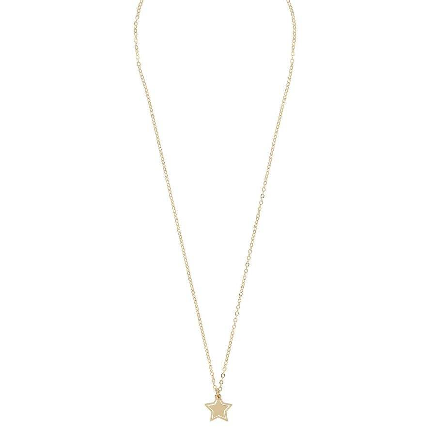Snö of Sweden Steira Small Pendant Necklace 42 cm – Plain Gold