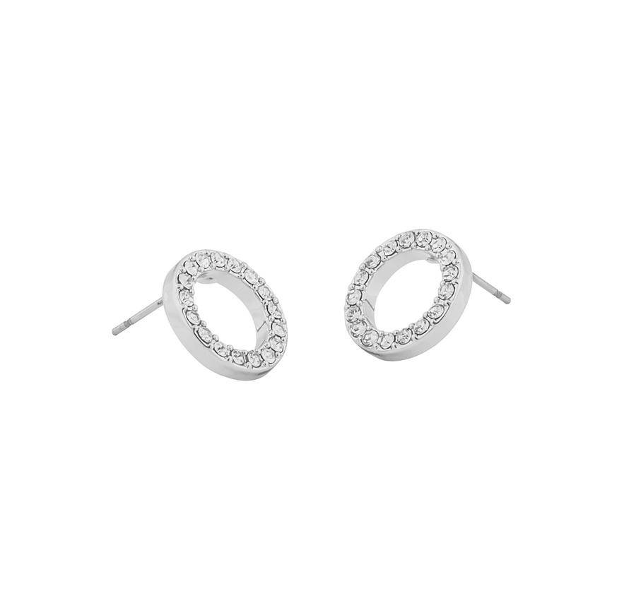 Snö Of Sweden Pi Coin Ring Earring - Silver/Clear