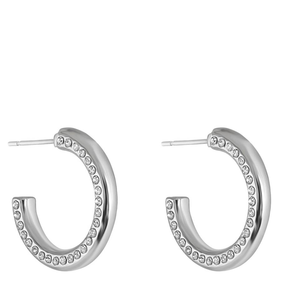 Snö Of Sweden Adara Small Oval Earring – Silver/Clear