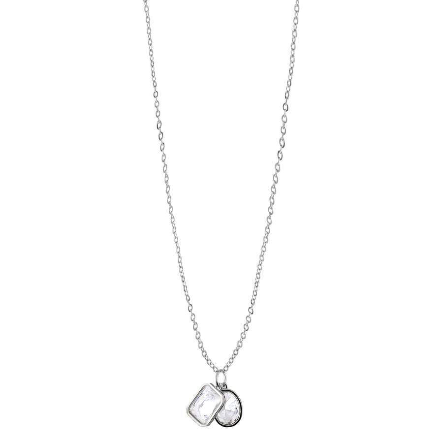 Snö Of Sweden Twice Pendant Necklace – Silver/Clear