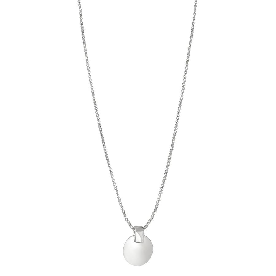 Snö of Sweden Carrie Pendant Necklace – Plain Silver