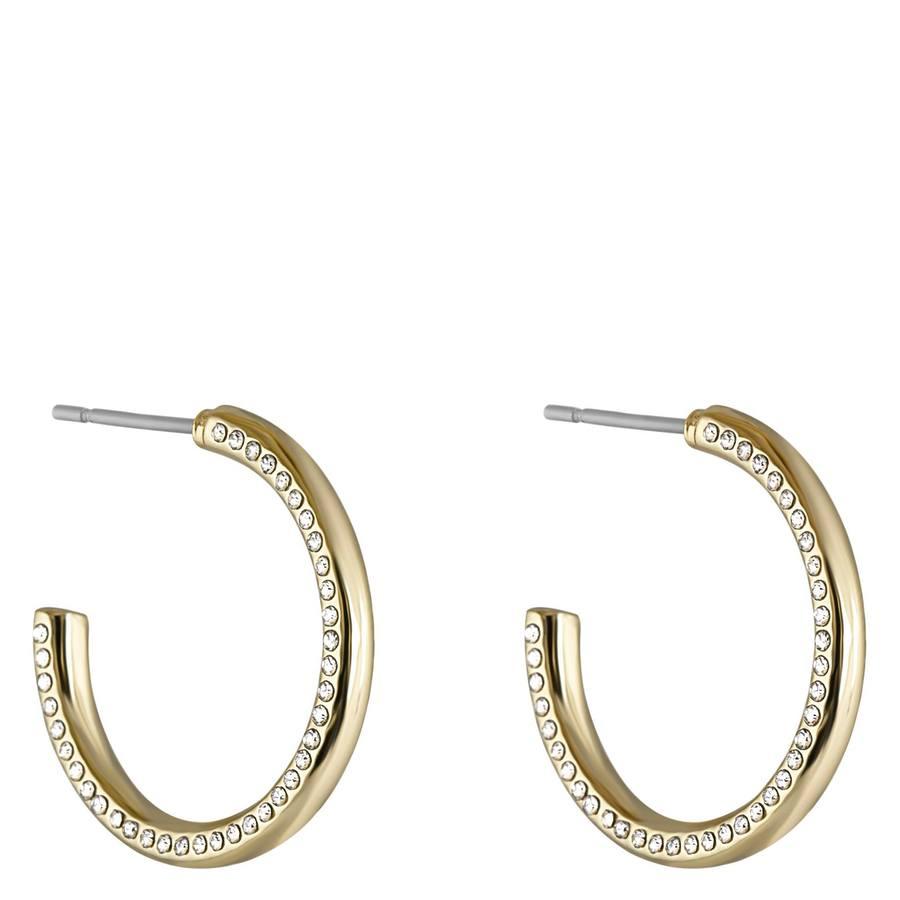 Snö Of Sweden Adara Oval Earring – Gold/Clear