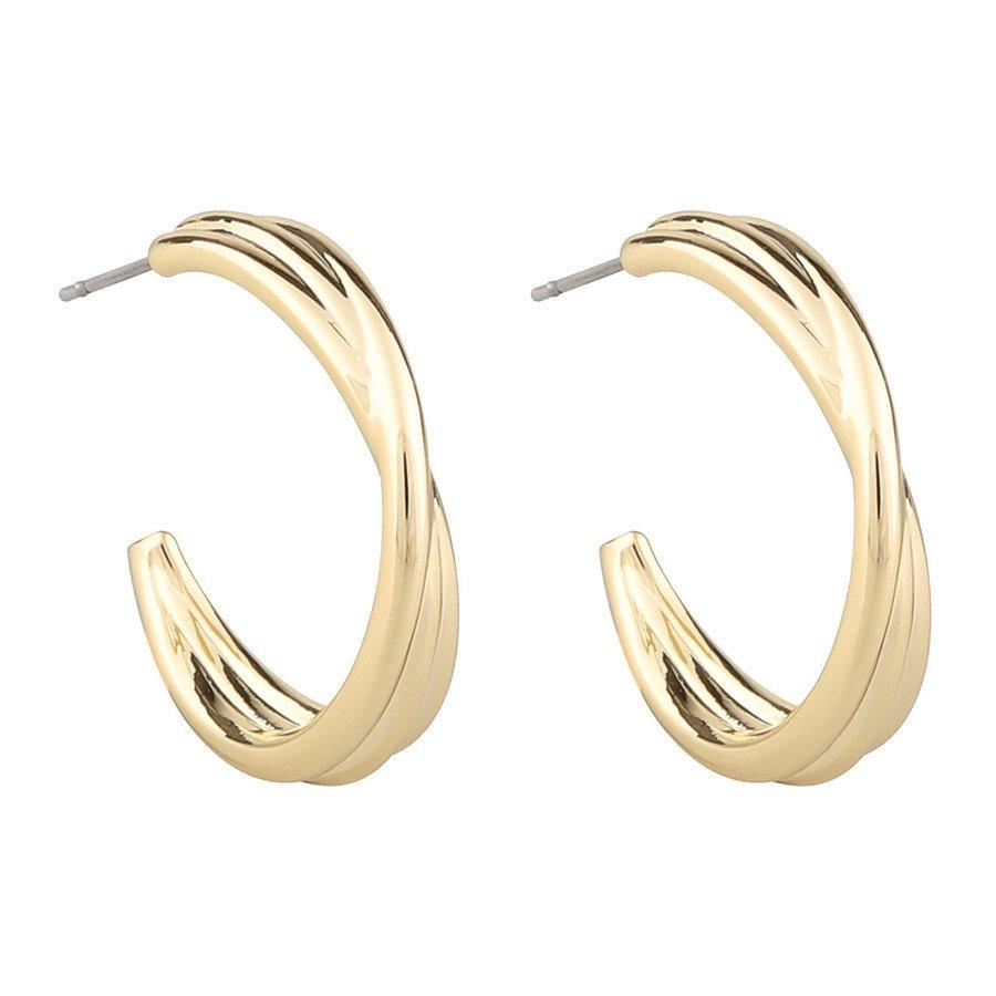 SNÖ of Sweden Helena Big Oval Earring – Plain Gold