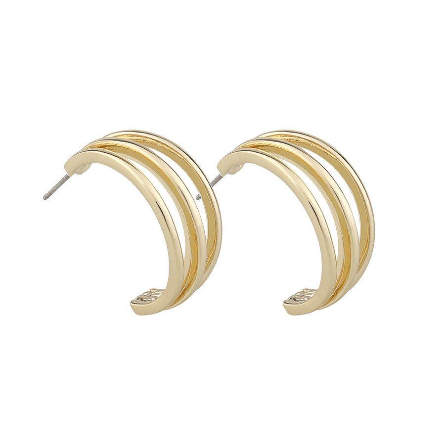 Snö Of Sweden Mette Wide Oval Earring - Plain Gold