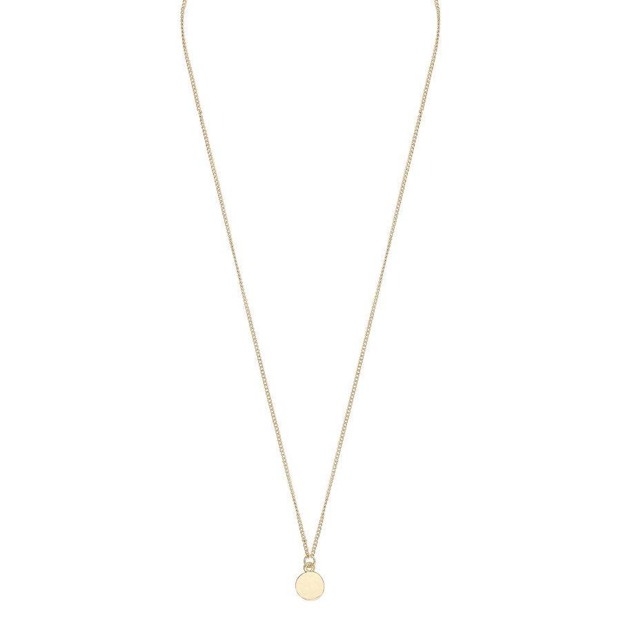 Snö Of Sweden Bridget Pendant Necklace 42 cm - Plain Gold