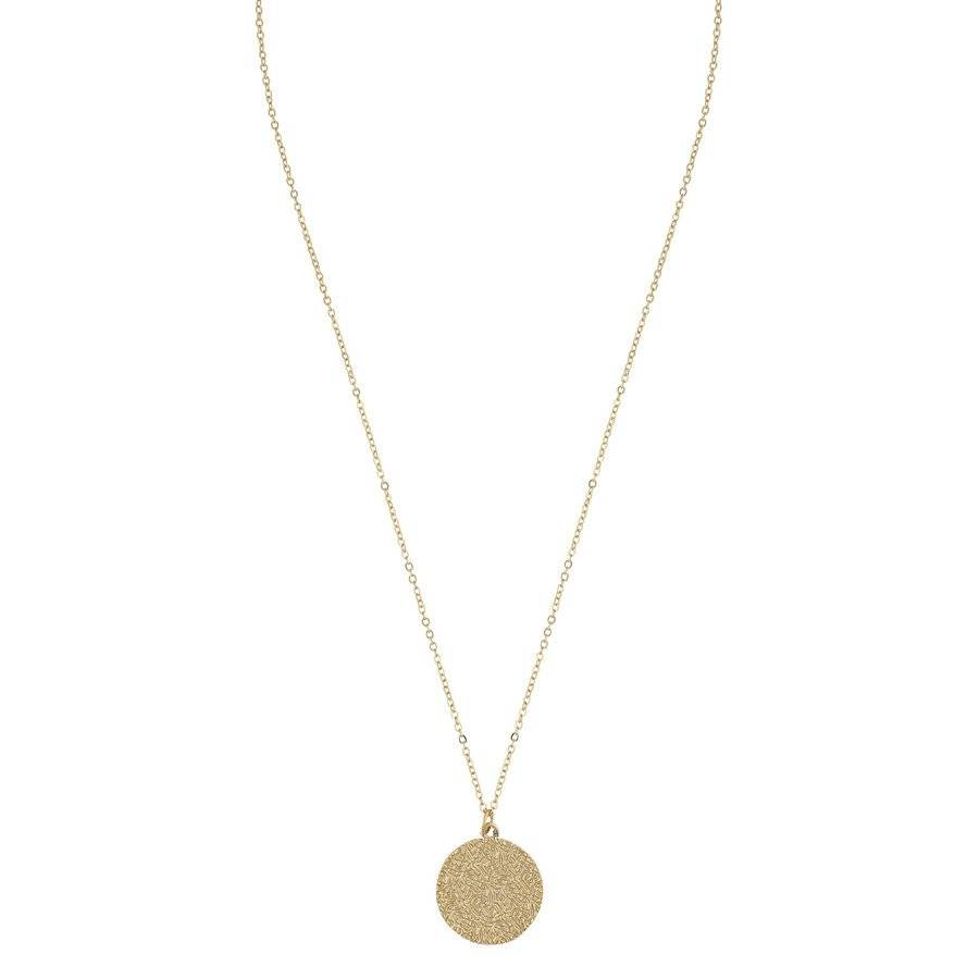 Snö of Sweden Penny Coin Pendant Necklace 42 cm – Plain Gold