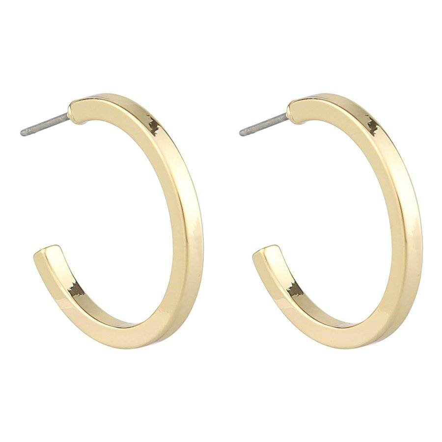 Snö of Sweden Madeleine Oval Earring – Plain Gold