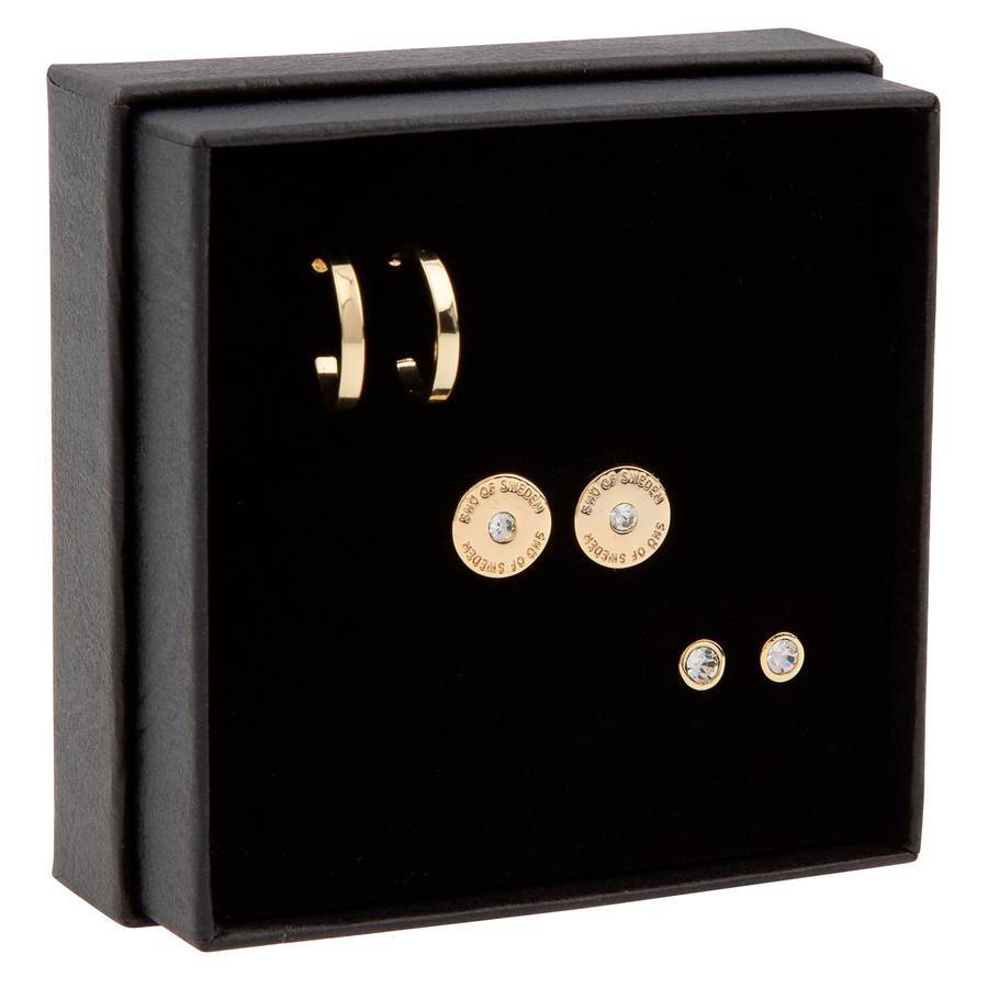 Snö of Sweden Gift Box Set Moe Earring ? Gold/Clear