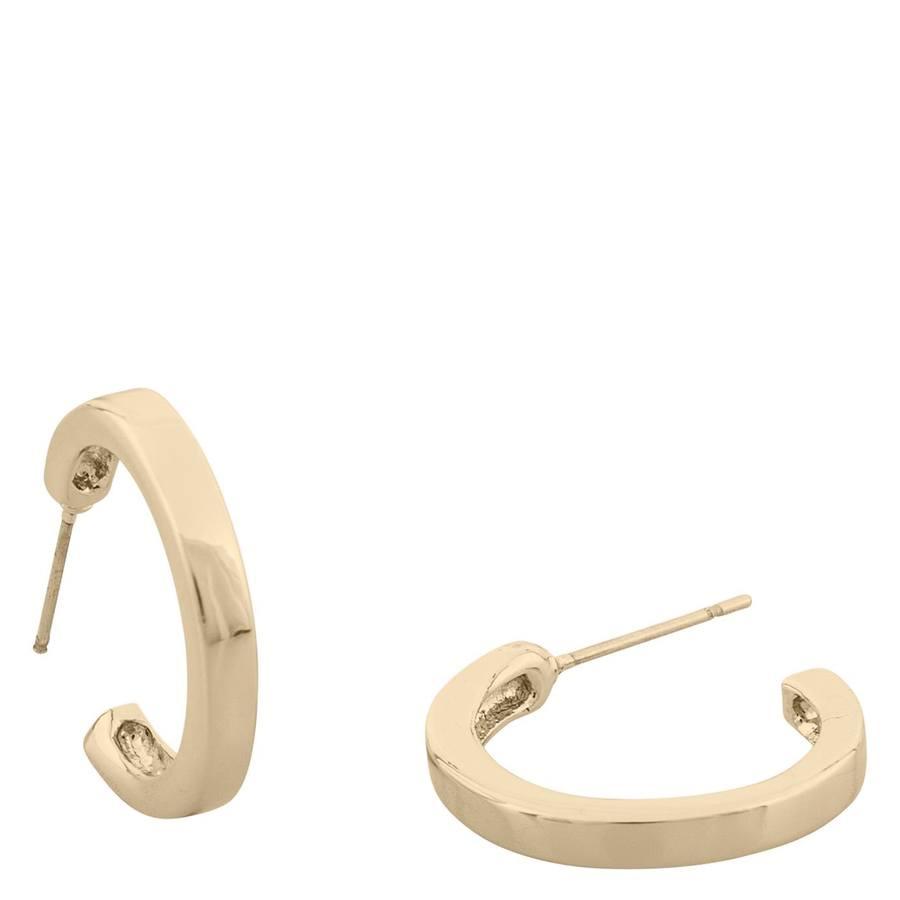 Snö Of Sweden Vertical Oval Earring – Plain Gold