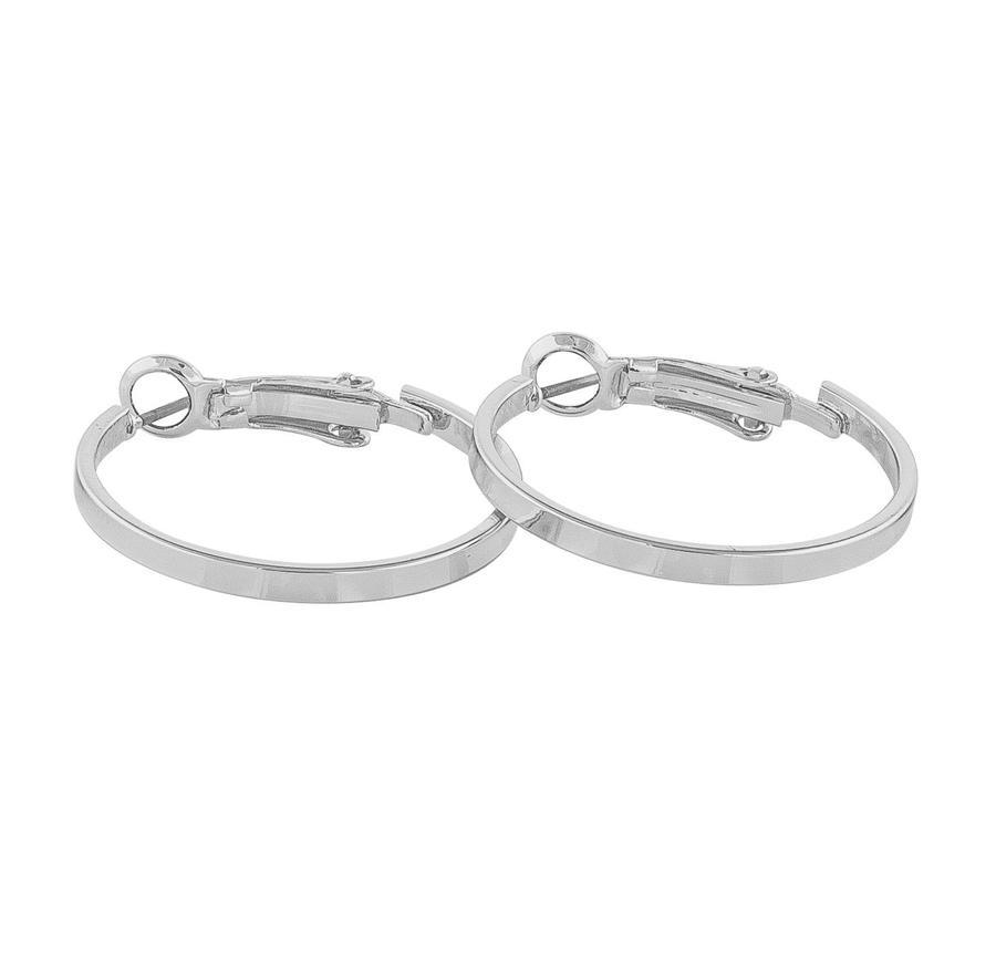 Snö Of Sweden Moe Ring Earring Plain - Silver 25 mm