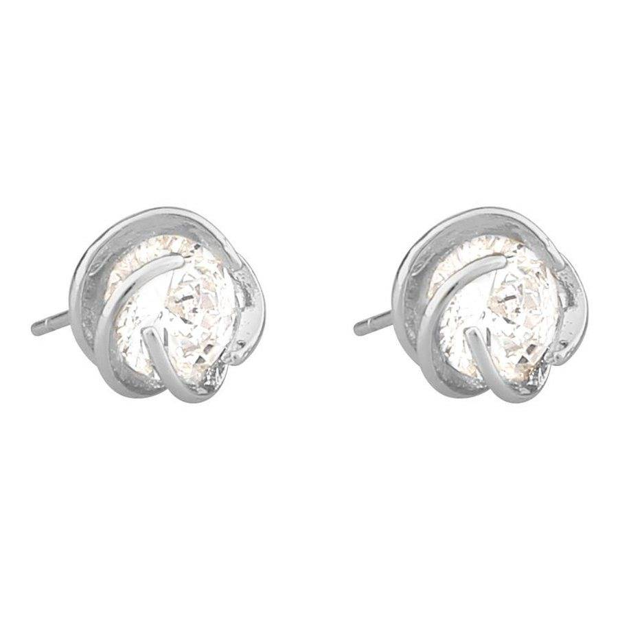 Snö Of Sweden Grass Earring - Silver/Clear