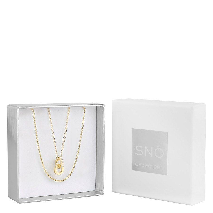 SNÖ of Sweden Crystal Royal Pendant Necklace Set - Gold/Clear
