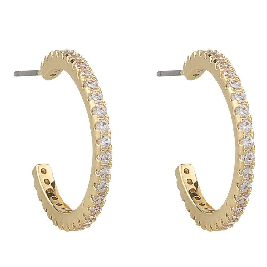 Snö Of Sweden Clarissa Oval Earring - Gold/Clear