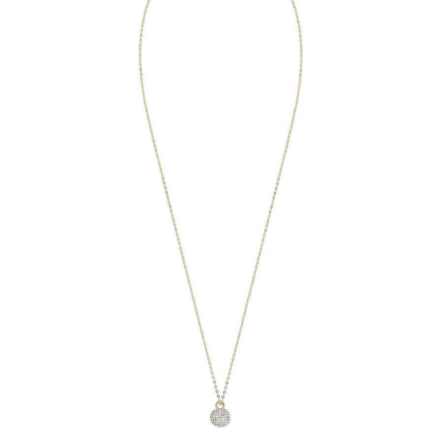 Snö of Sweden Zin Small Pendant Necklace 40 cm – Gold/Clear