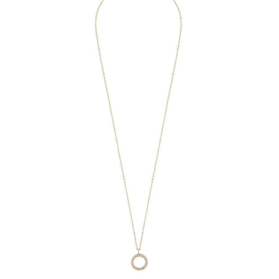 Snö Of Sweden Portal Pendant Necklace 42 cm – Gold/Clear