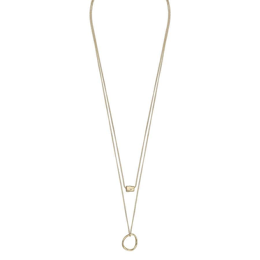 Snö Of Sweden Charlize Double Necklace 50 cm – Plain Gold