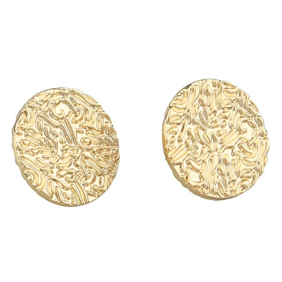 SNÖ of Sweden Penny Small Coin Earring – Plain Gold